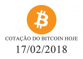 Cotação Bitcoin 17-02-2018