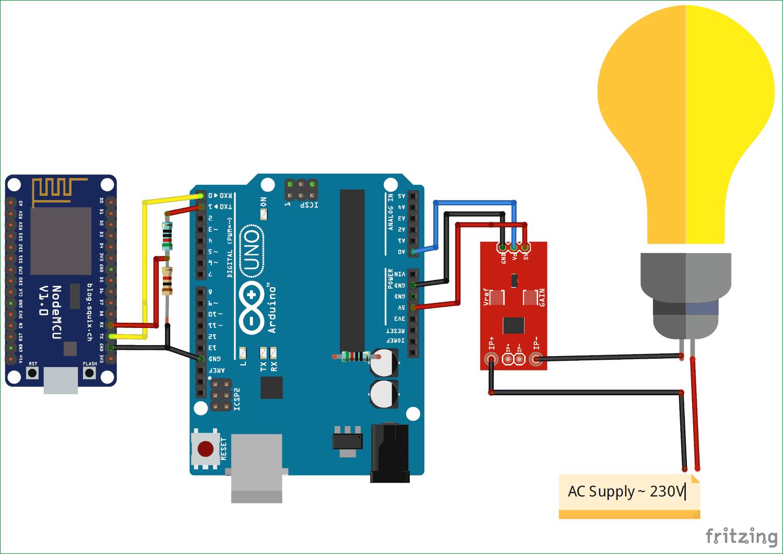 Circuit-diagrama-para-IoT-baseado-Eletricidade-Energy-Meter-usando-ESP12-e-Arduino