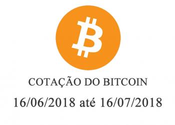 Cotação do Bitcoin de 16/06/2018 até 16/07/2018