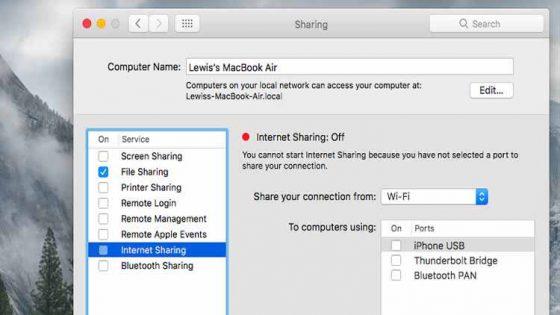 Como transformar seu Mac em um ponto de acesso Wi-Fi 3