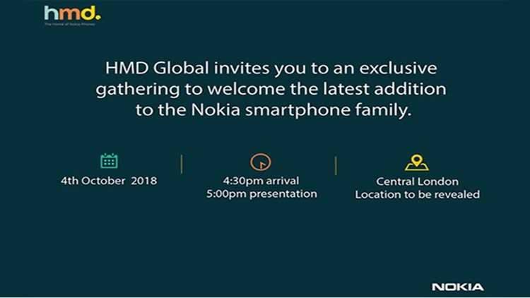 HMD Global Nokia Smartphone em 4 de Outubro