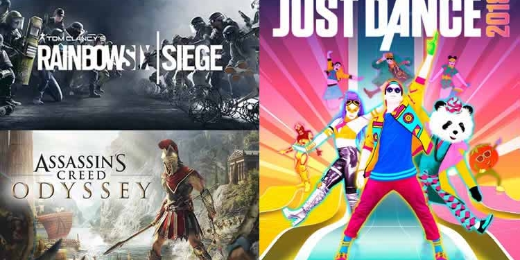 Ubsoft Assassin's Creed, Just Dance, Rainbow Six Siege