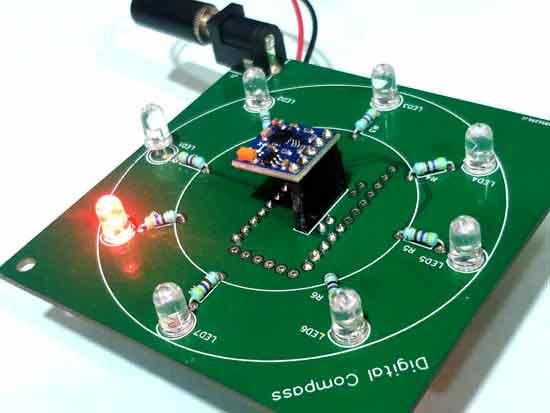 Teste de Bússola Digital usando Arduino e Magnetômetro HMC5883L